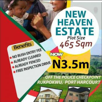 Land, New Heaven Estate, Off The Police Check-point, Rukpokwu, Port Harcourt, Rivers, Residential Land for Sale