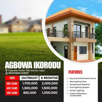 600sqm Cheap Dry Land  with Registered Survey & C of O, Opposite Timber Vile, Agbowa, Ikorodu, Lagos, Residential Land for Sale