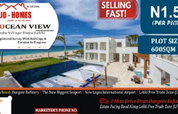 Estate Land, Ocean View Estate Facing The Road, Eleko, Ibeju Lekki, Lagos, Mixed-use Land for Sale