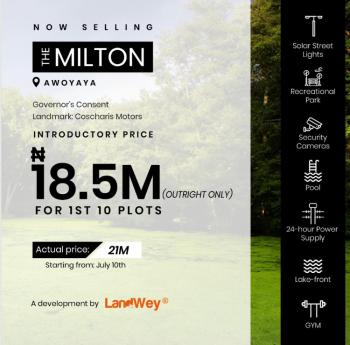 Milton Estate; Well Gated, 100% Dry Land with Massive Development, Awoyaya Few Minutes From Shoprite, Bank and Lot of Exotic Developments, Ajah, Lagos, Residential Land for Sale