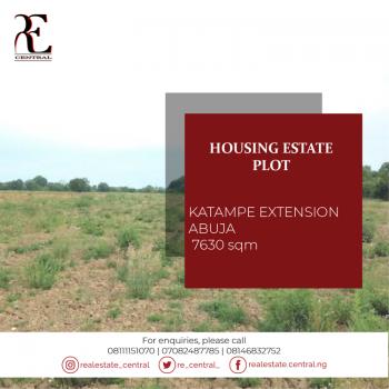 Plot of Land Measuring 7631sqm, Katampe Extension, Katampe, Abuja, Residential Land for Sale