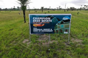 100 % Dry and Affordable Land for Maximum Returns on Investment, Ode-omi, Off Lekki Free Trade Zone, Champion Seed Estate, Okun Imedu, Ibeju Lekki, Lagos, Mixed-use Land for Sale