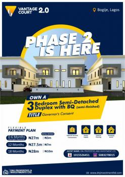Luxury 3 Bedroom Duplex with One Bedroom Bq, Richland Gardens, Bogije, Ibeju Lekki, Lagos, Semi-detached Duplex for Sale