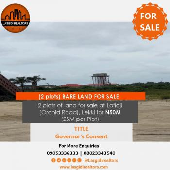 2 Plots of Land, Orchid Road, Lafiaji, Lekki, Lagos, Land for Sale