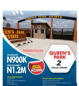 C of O Land in a Living Community, Near Nestle, Mowe Ofada, Ogun, Residential Land for Sale