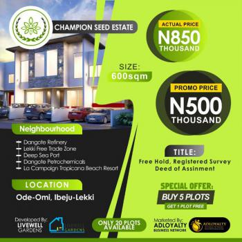 Champion Seed Estate, Ode Omi, Folu Ise, Ibeju Lekki, Lagos, Residential Land for Sale