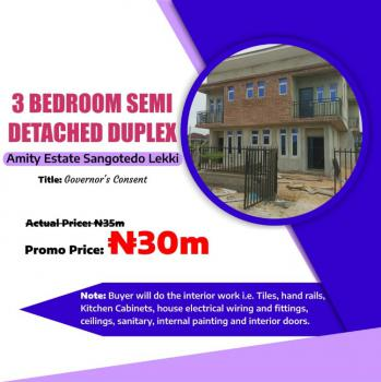 3 Bedroom Semi-detached, Amity Estate, Sangotedo, Ajah, Lagos, Semi-detached Duplex for Sale