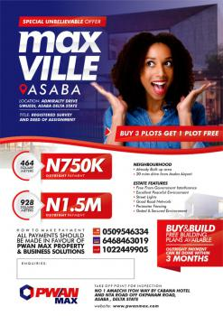 Invest in a Plot of Land, Max Ville Estate Asaba By Admiralty Drive., Asaba, Delta, Mixed-use Land for Sale