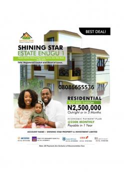 Estate Land with Good Location, Near Catholic National Pilgrimage Centre, Enugu, Enugu, Residential Land for Sale
