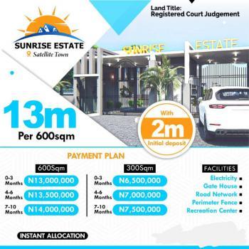 Plot of Land, Sunrise Estate, Satelite Town, Festac, Amuwo Odofin, Lagos, Residential Land for Sale