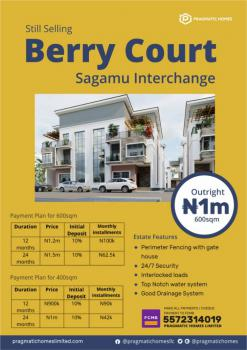Land, Berry Court, Sagamu Interchange, Ode Lemo, Sagamu, Ogun, Residential Land for Sale
