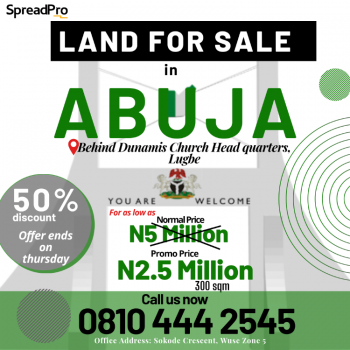 Affordable Land, Airport Road., Lugbe District, Abuja, Residential Land for Sale