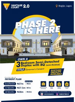 3 Bedroom Semi-detached Duplex with a Bq, Vantage Court Phase 2, Bogije, Ibeju Lekki, Lagos, Semi-detached Duplex for Sale