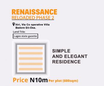Renaissance Reloaded Phase 2, Cooperative Villa, Badore, Ajah, Lagos, Residential Land for Sale