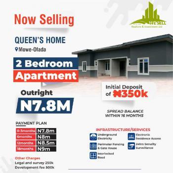 2 Bedroom Bungalow, Queens Home, Mowe Ofada, Ogun, House for Sale