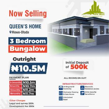 3 Bedroom Bungalow, Queens Home, Mowe Ofada, Ogun, Detached Bungalow for Sale