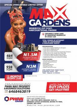 928 Sqm, Max Gardens Mgbirichi, Avu, Owerri, Imo, Residential Land for Sale