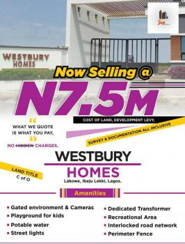 Buy and Build Land, Westbury Homes, Beachwood, Bogije, Ibeju Lekki, Lagos, Residential Land for Sale