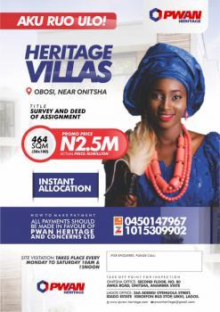 Land, Heritage Villas, Obosi, Near Onitsha-owerri Road, Idemili, Anambra, Residential Land for Sale