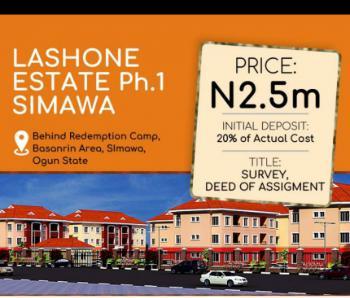 Land, Lashone Estate Simawa Phase 1, Behind Redemption Camp Ground, Basanrin Area, Simawa, Ogun, Residential Land for Sale