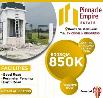 Affordable Plots of Land Available in Nice Environs, Owode Ise Road, 2 Mins Drive From La Campagne Tropicana Resort Ibeju, Okun Imedu, Ibeju Lekki, Lagos, Residential Land for Sale