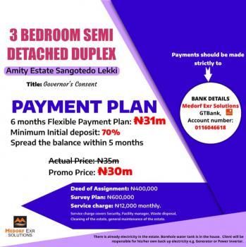 Luxurious 3 Bedroom Semi Detached Duplex at Promo Price, Amity Estate Sangotedo, Ajah, Sangotedo, Ajah, Lagos, Semi-detached Duplex for Sale