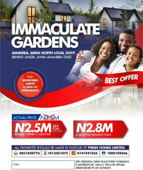 Land, Immaculate Garden Estate, Awka, Anambra, Mixed-use Land for Sale