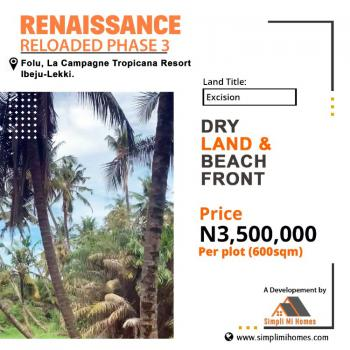 Dry Plot of Land Facing The Express with Beach Front, Lacampaigne Tropicana Resort, Folu Ise, Ibeju Lekki, Lagos, Mixed-use Land for Sale