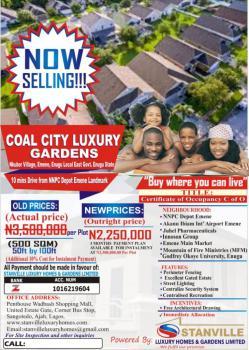 Secured C of O Land Available, Nkubor Village, Emene, Enugu, Enugu, Mixed-use Land for Sale