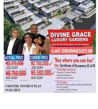 Estate Dry Land with C of O and Instant Allocation- Promo, 100% Dry Land in Bogije , 30 Minutes From Shoprite, Sangotedo, Ajah, Lagos, Residential Land for Sale