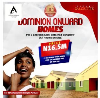 3 Bedroom Units Semi Detached Bungalows, Gazette Title, Eti -osa L.g.a. Bashoru Town , Majek, Sangotedo, Ajah, Lagos, Semi-detached Bungalow for Sale