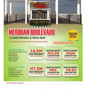 Dry Land with Governors Consent, Dry Land with Consent 3 Minutes From Abraham Adesanya Roundabout, Lekki Phase 2, Lekki, Lagos, Mixed-use Land for Sale