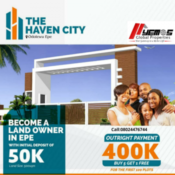 Most Affordable Land, The Haven City, Epe, Lagos, Residential Land for Sale