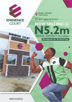 Cheap Excised Land in The Lap of Luxury, Eminence Court, Bogije, Ibeju Lekki, Lagos, Residential Land for Sale