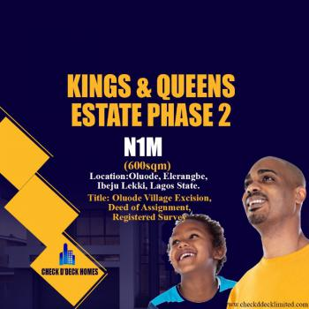 Buy 5 Plots Get 1 Plot Free, Oluode Village, Kings and Queens Estate Phase 2, Eleranigbe, Ibeju Lekki, Lagos, Residential Land for Sale