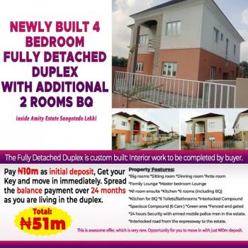 Top Selling 4 Bedroom Fully Detached Duplex with Additional 2 Rooms Bq, Amity Estate Sangotedo Lekki., Sangotedo, Ajah, Lagos, Detached Duplex for Sale