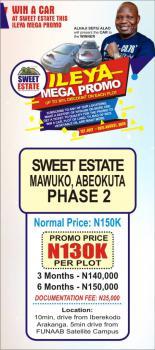 Land, Sweet Estate, Mawuko Phase 2, Abeokuta North, Ogun, Residential Land for Sale