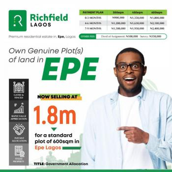 Dry Land Ready to Build @ Epe, Richfield Scheme 1 Epe Lagos State, Epe, Lagos, Mixed-use Land for Sale