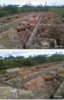 1 Plot of Land with Foundation to Dpc Level of 12-rooms Self Contained, Untouchable  Road, Isoko North, Delta, Commercial Land for Sale
