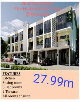 3 Bedroom Maisonette with State of The Art Facilities, Horizon Ville Estate, Ikate, Lekki, Lagos, Terraced Duplex for Sale