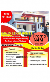 C of O Land on Promo for 15 Plots Only!, C of O Land for Hot Promo in Free Trade Zone Near Dangote Jetty, Ibeju Lekki, Lagos, Mixed-use Land for Sale