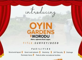 Oyin Gardens, Agbowa-ikosi, Ikorodu, Lagos, Residential Land for Sale