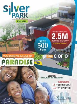 Most Affordable Dry Plot of Land, Along International Airport, Emene, Enugu, Enugu, Residential Land for Sale