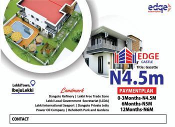 Estate Land Facing Express, Lekki Town/ Ibeju Lekki Expressway/ Edge Castle Estate., Ibeju Lekki, Lagos, Residential Land for Sale
