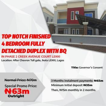 Top Notch Finished 4 Bedroom Fully Detached Duplex +bq., After Chevron Toll Gate, Ikota., Ikota, Lekki, Lagos, Detached Duplex for Sale