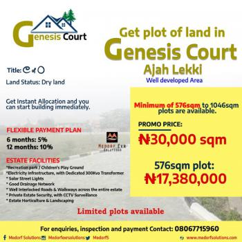 Residential Estate and Existing Infrastructures., Badore Ajah, The Diversion Left at The Ajah Flyover Bridge(ajah Busp), Ajah, Lagos, Residential Land for Sale