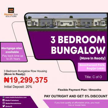 3 Bedroom Bungalow., Bogije Lakowe Ajah, Facing The Lekki Epe Express Way., Ajah, Lagos, Terraced Bungalow for Sale