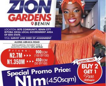 Buy 2 Plots Get 1 Free, Zion Gardens Estate, Ikpe Community Along Abraka Road, Benin City, Ikpoba Okha, Edo, Mixed-use Land for Sale