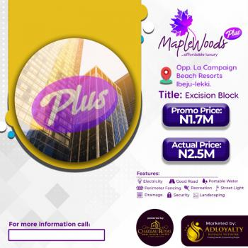 New Land, Opp La Campagne Tropicana at The Maplewoods Plus, Ibeju Lekki, Lagos, Residential Land for Sale