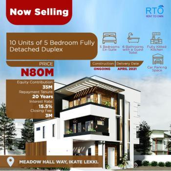 Pay Instalmentally for 15years After Payment of Equity Contribution., Bella Court 2, Ikate, Lekki, Lagos, Detached Duplex for Sale